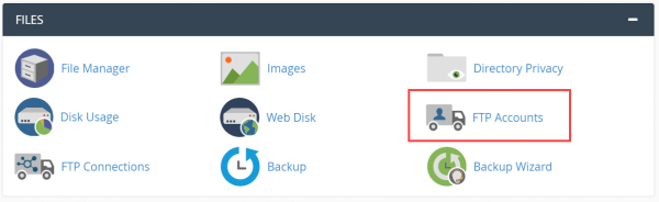 FTP Accounts in cPanel